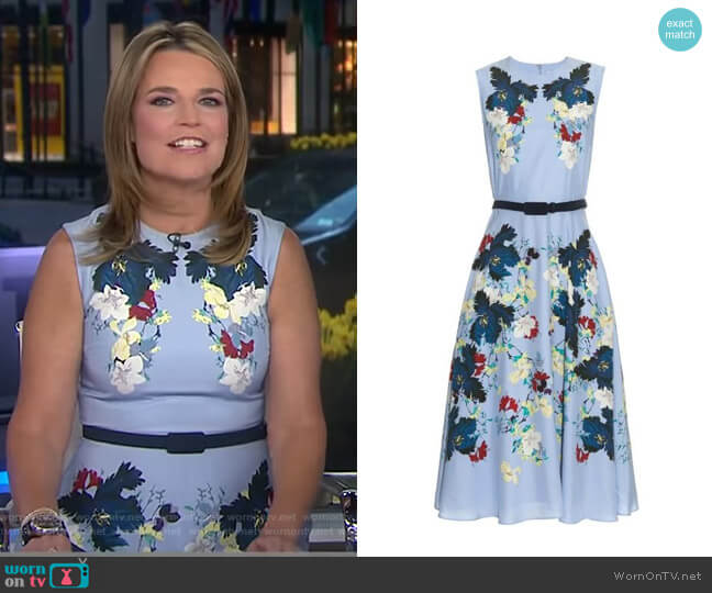 Mackenzie Kita Dress by Erdem worn by Savannah Guthrie (Savannah Guthrie) on Today
