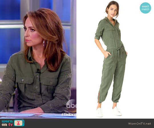 Marjan Army Embroidered Jumpsuit by Etienne Marcel worn by Jedediah Bila on The View