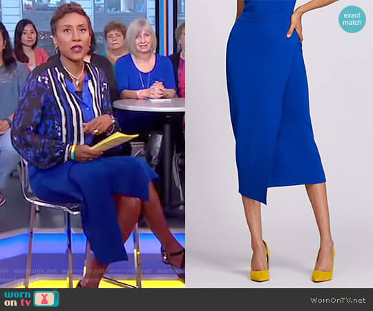 Gabrielle Union Collection Knit Pencil Skirt by New York & Company worn by Robin Roberts on Good Morning America