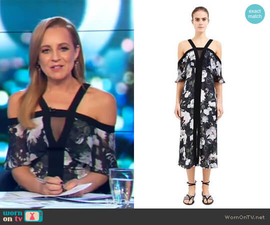 Eden Off Shoulder Dress by Ginger & Smart worn by Carrie Bickmore  on The Project