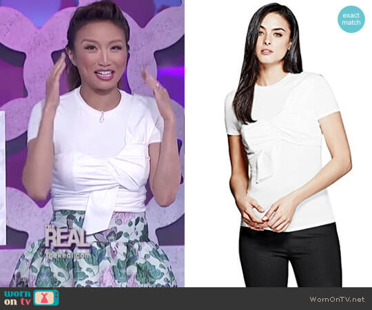 Joella Top by Guess by Marciano worn by Jeannie Mai on The Real