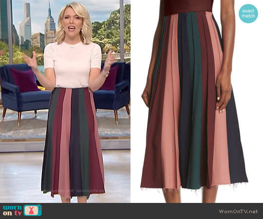 Ernst Pleated Midi Skirt by Gabriela Hearst worn by Megyn Kelly on Today