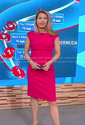 Ginger's pink double layered dress on Good Morning America