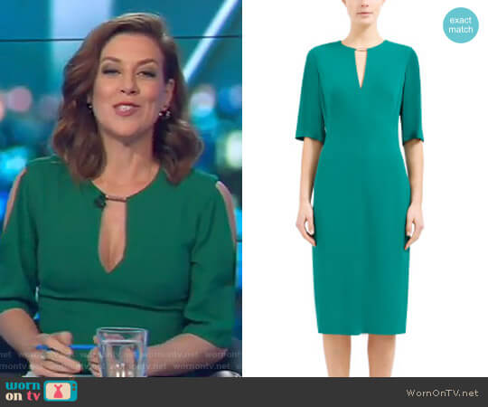 Overture Fitted Dress by Ginger & Smart worn by Gorgi Coghlan on The Project