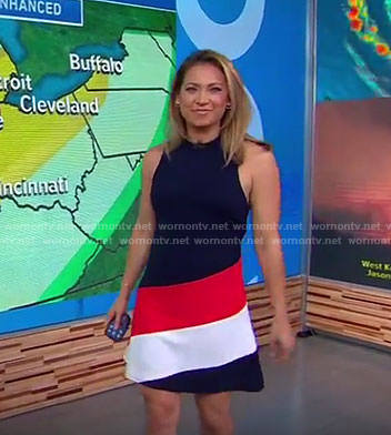Ginger's colorblock sleeveless dress on Good Morning America