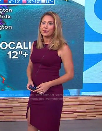 Ginger's purple zip front dress on Good Morning America