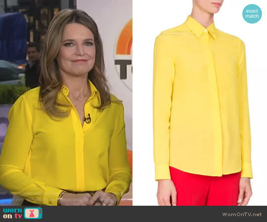 Crepe de Chine Blouse by Givenchy worn by Savannah Guthrie (Savannah Guthrie) on Today