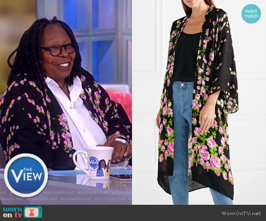Floral-jacquard robe by Gucci worn by Whoopi Goldberg on The View
