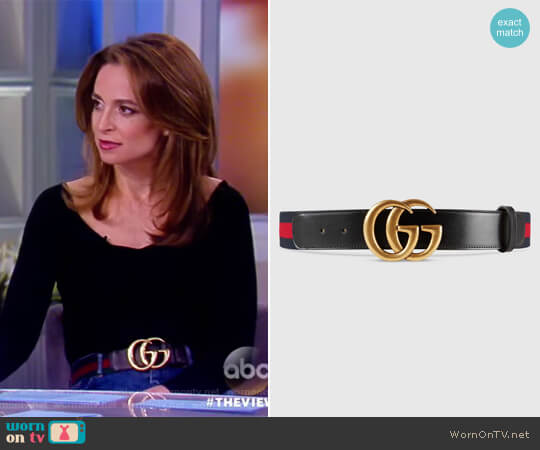 Nylon Web belt with Double G buckle by Gucci worn by Jedediah Bila on The View
