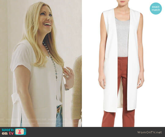 Long Twill Vest by Halogen worn by Stephanie Hollman on The Real Housewives of Dallas