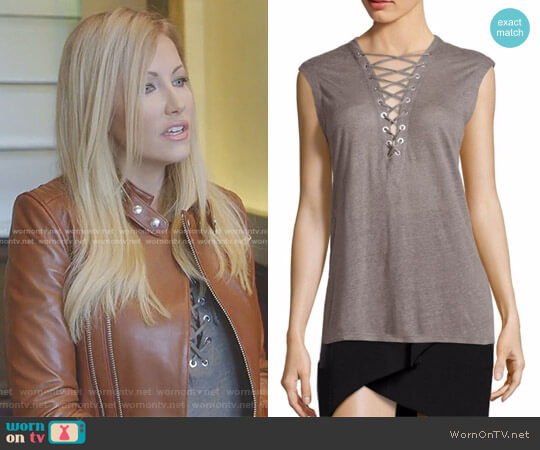 'Tissa' Sleeveless Top by IRO worn by Stephanie Hollman  on The Real Housewives of Dallas