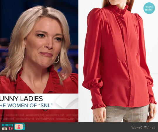 'Sloan' Ruffled Silk Blouse by Isabel Marant worn by Megyn Kelly on Today