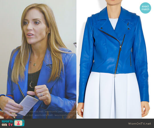 Biker Jacket by Jason Wu worn by Cary Deuber on The Real Housewives of Dallas
