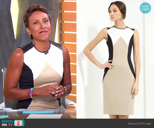 Stretch Gabardine Sheath Dress by Jason Wu worn by Robin Roberts on Good Morning America