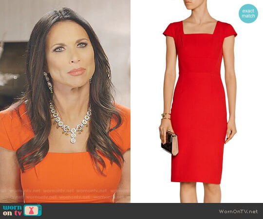 'Jeddler' Stretch Crepe Dress by Roland Mouret worn by LeeAnne Locken on The Real Housewives of Dallas
