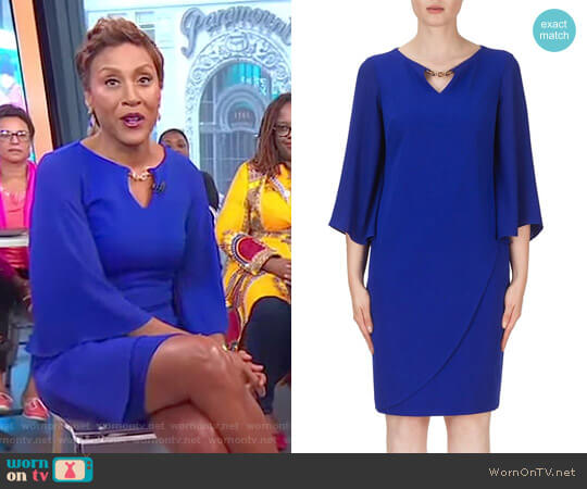 Knee length Dress by Joseph Ribkoff worn by Robin Roberts  on Good Morning America