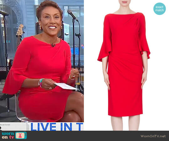 Dress Style 173411 by Joseph Ribkoff worn by Robin Roberts  on Good Morning America