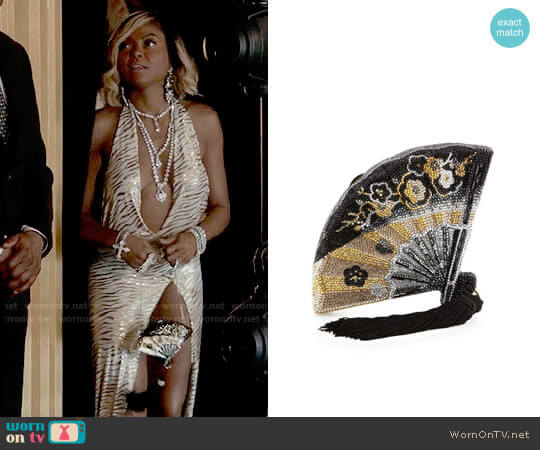 Judith Leiber Couture Fluttering Crystal Fan Minaudiere worn by Taraji P. Henson on Empire