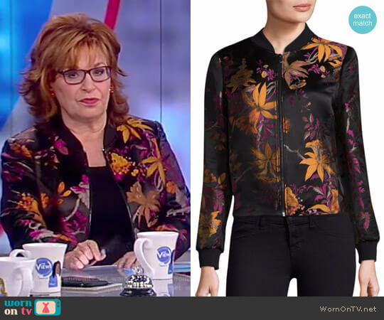 Laicey Printed Bomber Jacket by Kobi Halperin worn by Joy Behar (Joy Behar) on The View