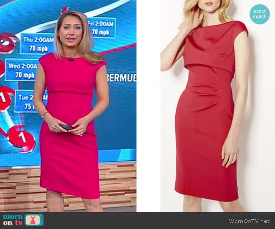 Double Layer Pencil Dress by Karen Millen worn by Ginger Zee  on Good Morning America
