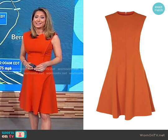 Panelled A-Line Dress by Karen Millen worn by Ginger Zee on Good Morning America