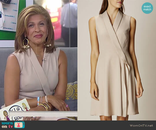 Ruffle Front Wrap Dress by Karen Millen worn by Hoda Kotb on Today