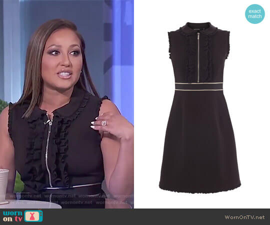 Ruffle Trim Smart Dress by Karen Millen worn by Adrienne Houghton on The Real