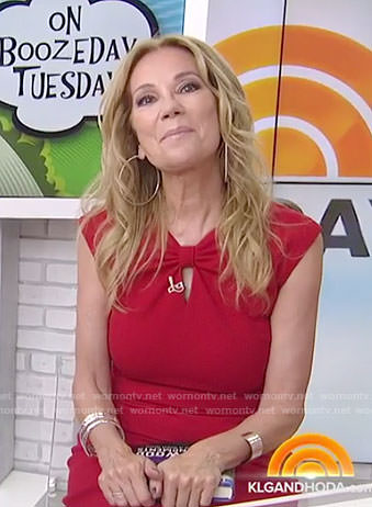 Kathie's red keyhole dress on Today