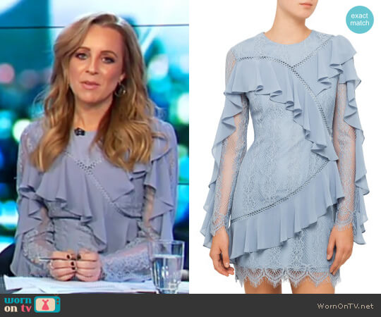 Better Days Long Sleeve Lace Dress by Keepsake worn by Carrie Bickmore on The Project
