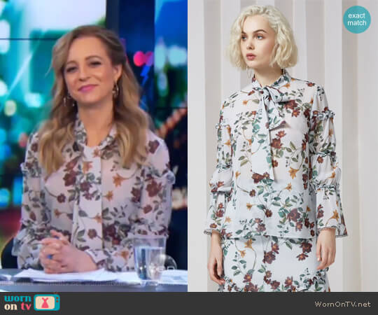Twilight Dreams Top by Keepsake worn by Carrie Bickmore on The Project