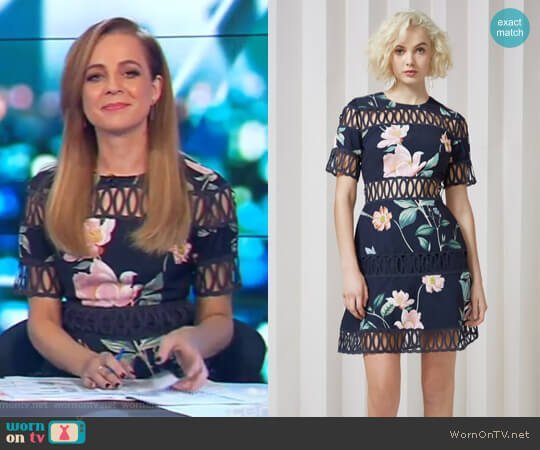 Whispers Dress by Keepsake worn by Carrie Bickmore on The Project
