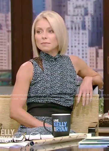 Kelly's leopard lace inset dress on Live with Kelly and Ryan