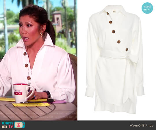 Asymmetric Blouse by Khaite worn by Julie Chen  on The Talk