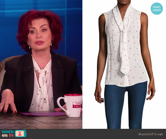Natalia Star Top by L'Agence worn by Sharon Osbourne on The Talk