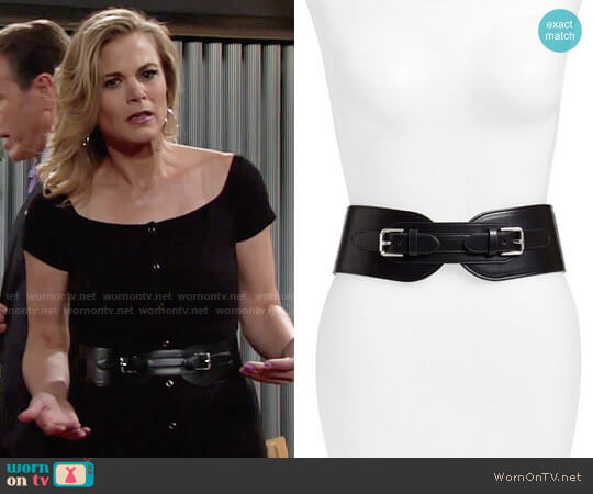 LAUREN Ralph Lauren Double Equestrian Stretch Belt worn by Gina Tognoni on The Young & the Restless
