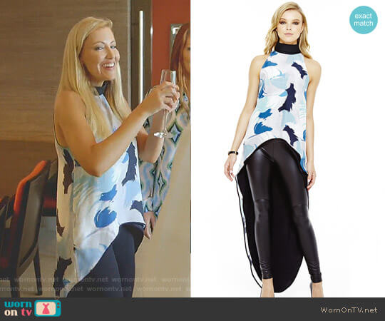'Kendall' High Low Top by Lizna worn by Stephanie Hollman on The Real Housewives of Dallas
