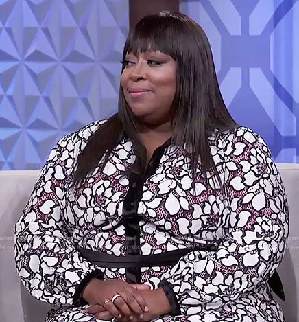Loni's floral shirtdress on The Real