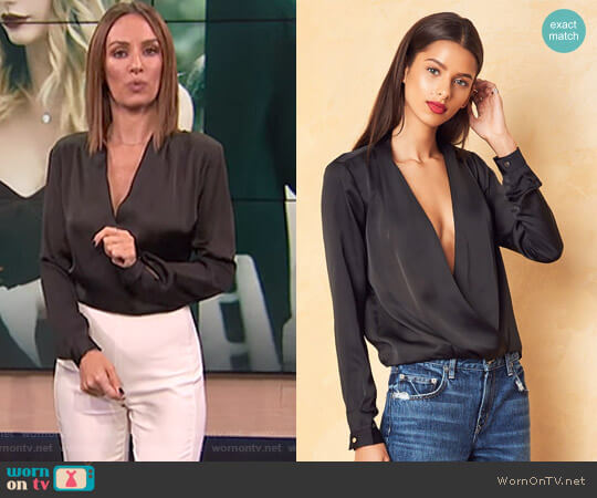 Whisper Top by Lovers + Friends worn by Catt Sadler on E! News