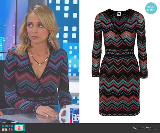 Wrap Effect Chevron Knit Dress by M Missoni worn by Nicole Richie on Great News
