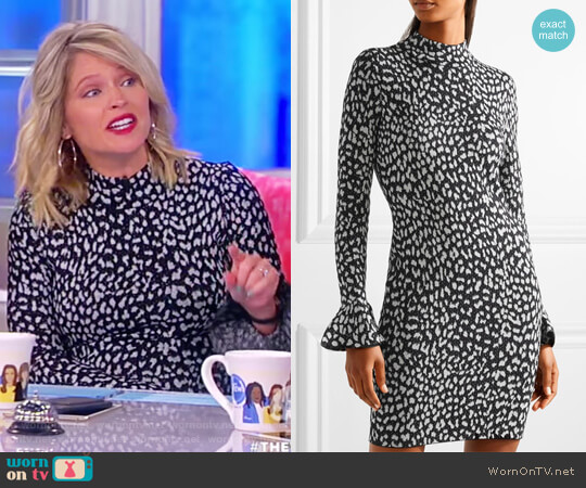 Metallic jacquard-knit mini dress by MICHAEL Michael Kors worn by Sara Haines on The View
