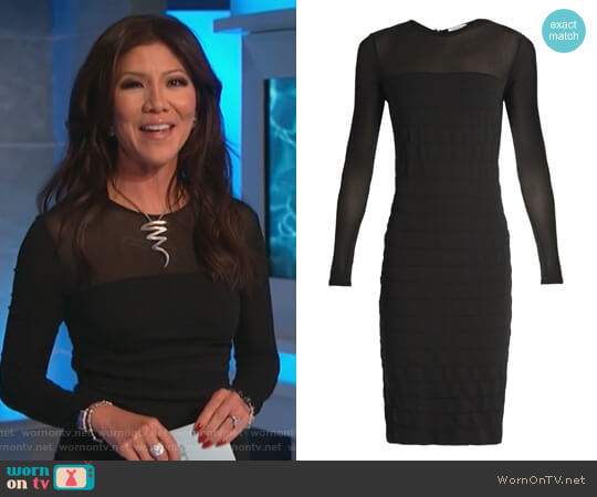 Orafo dress by Max Mara worn by Julie Chen on Big Brother