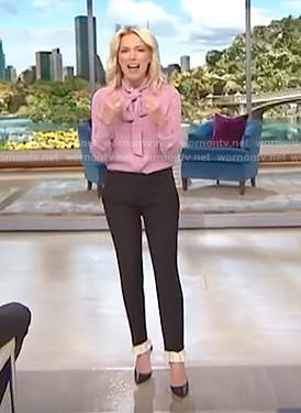 Megyn's black ruffle hem pants on Megyn Kelly Today
