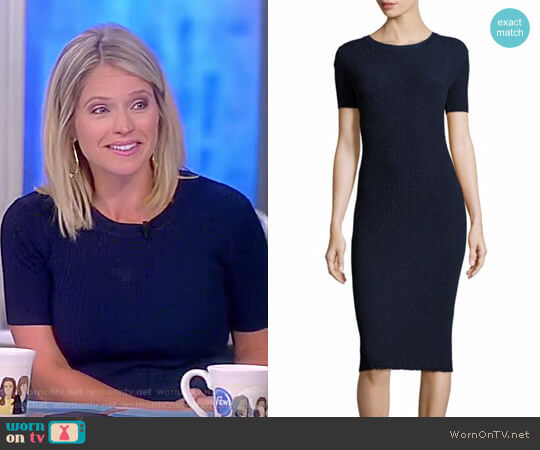 Italian Stardust Rib Dress by Milly worn by Sara Haines on The View