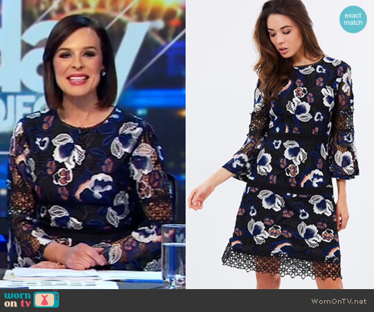 Aura Mini Dress by Ministry Of Style worn by Natarsha Belling  on The Project