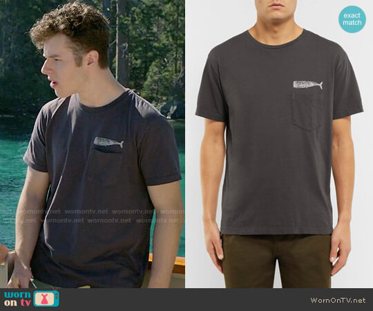 Mollusk Olde Whale Printed Cotton-Jersey T-Shirt worn by Nolan Gould on Modern Family