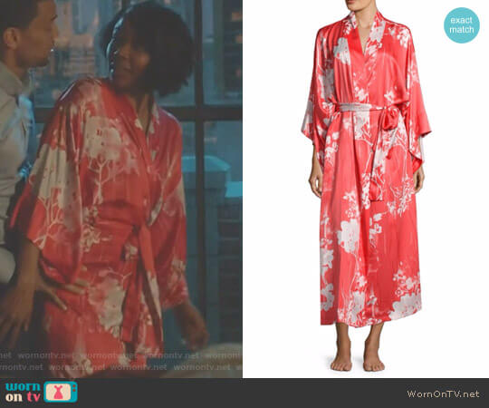 Layla Printed Slinky Charmeuse Robe by Natori worn by Gabrielle Union on Being Mary Jane
