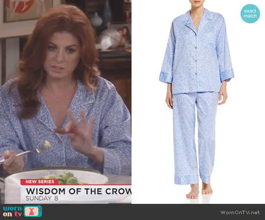 Notch Pajama Set by Natori worn by Debra Messing on Will & Grace