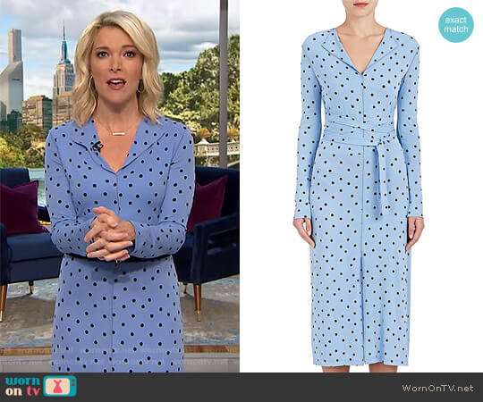 Dot-Print Stretch-Crepe Dress by Nina Ricci worn by Megyn Kelly on Today