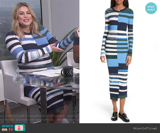 Space Dye Maxi Dress by Opening Ceremony worn by Carissa Loethen Culiner (Carissa Loethen Culiner) on E! News