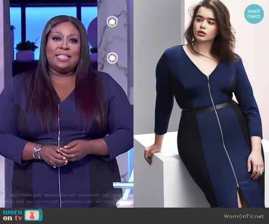 Zip-Front Sheath Dress by Prabal Gurung worn by Loni Love on The Real